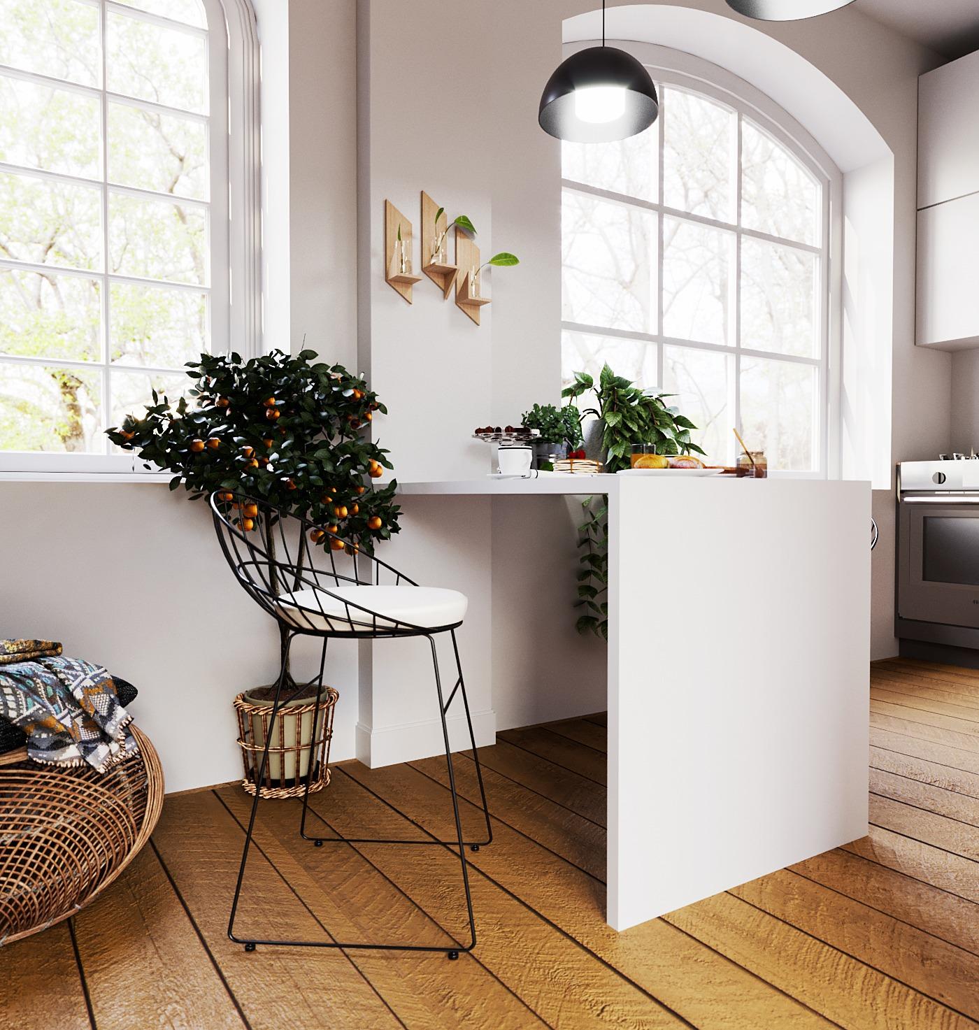 Scandinavian style kitchen1